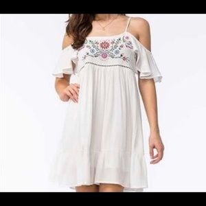Others Follow White Embroidered Boho Style Dress